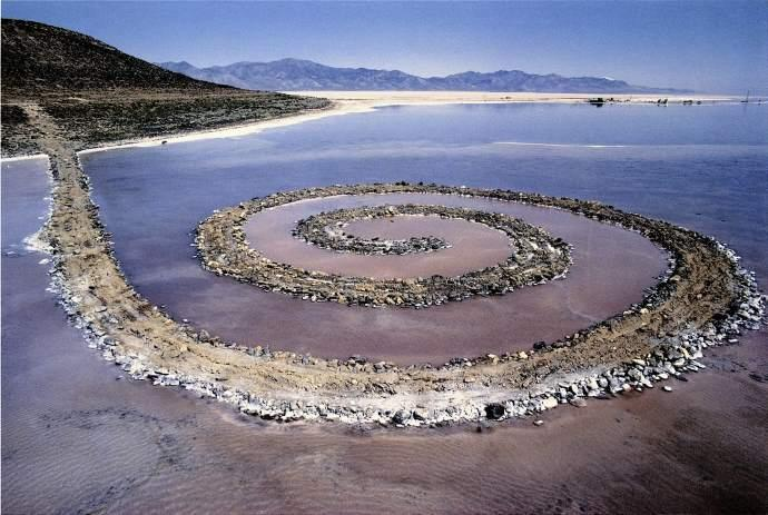"""Spiral Jetty"" by Robert Smithson"
